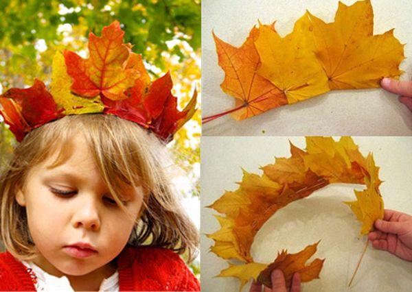 Листья из желтых листьев