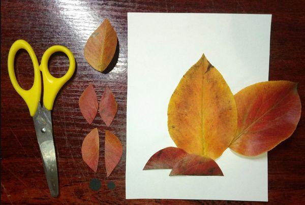 Листья для апликации белочка