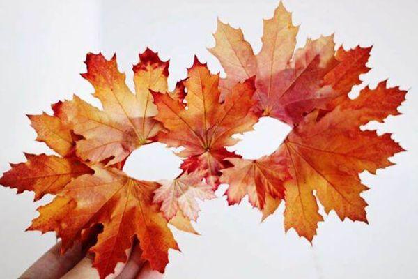 Карнавальная маска из листьев