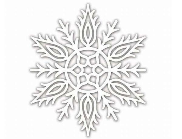 Снежинка шаблон 9
