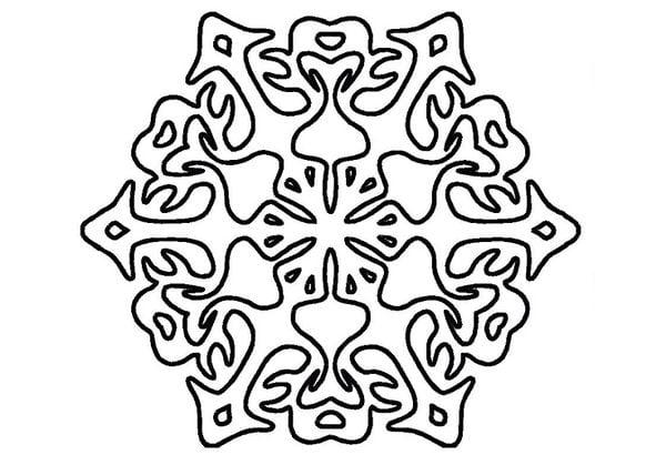 Снежинка шаблон 8
