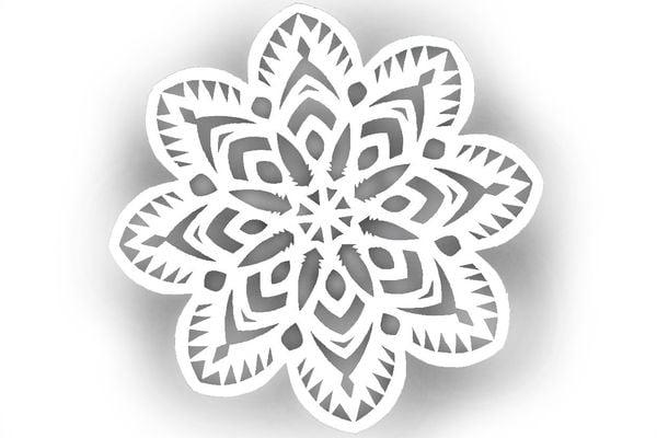 Снежинка шаблон 7