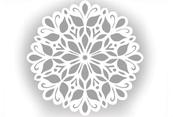 Снежинка шаблон 6