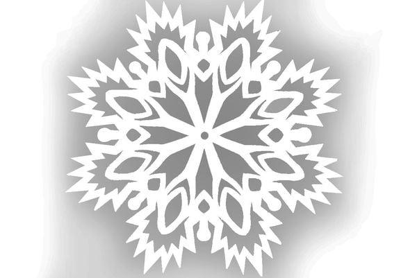 Снежинка шаблон 4
