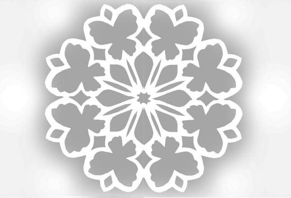 Снежинка шаблон 3