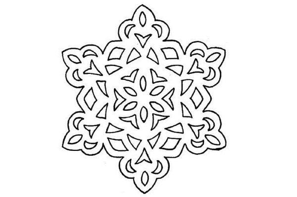 Снежинка шаблон 2