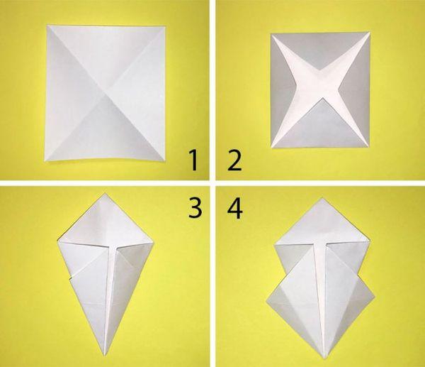 Красивые объемные снежинки в технике оригами 1