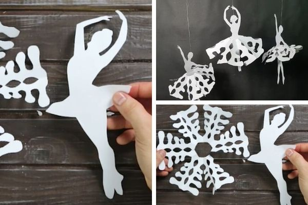Снежинка балерина