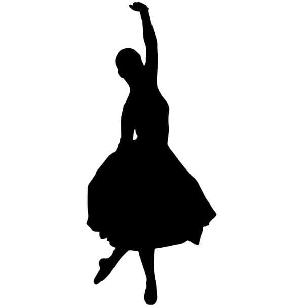 Шаблон балерины 1