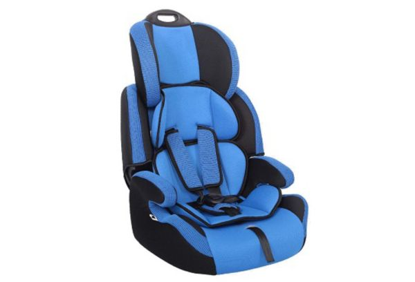 Синее автокресло