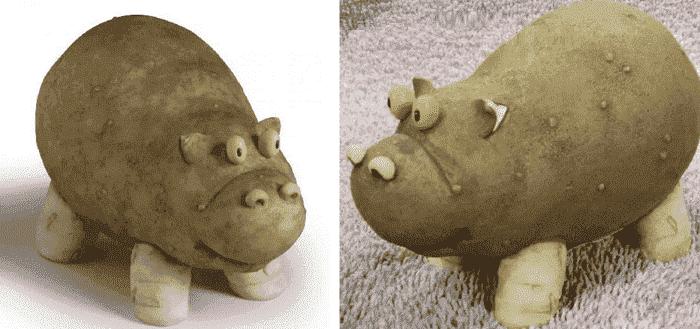Бегемоты из картошки