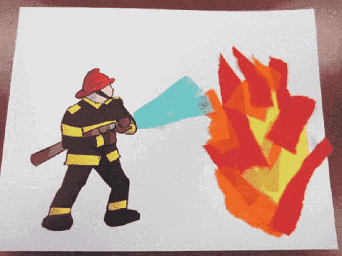 Апликация на пожарную тему